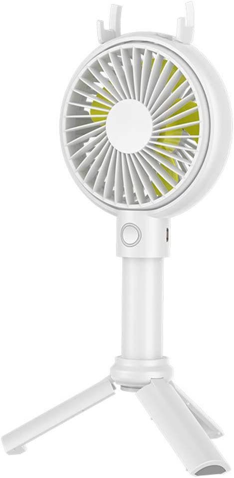 3 Tripod Phone Holder Home Office Travel Camping-green-2000mAh GJF Handheld Mini Fan Multi-Function Portable Vertical Rechargeable Small Fan 3 Speeds