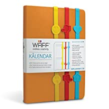 "WAFF Kalender Planner Diary with 3 Bands, 8.5"" X 5.75"" X 1"""