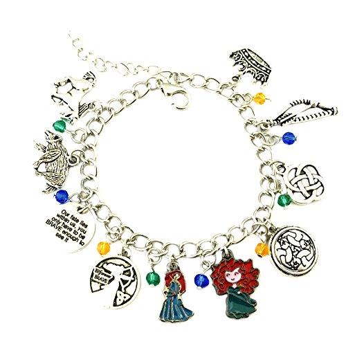 Athena Brands Brave Charm Bracelet Quality Cosplay Jewelry Movie Series with Gift Box
