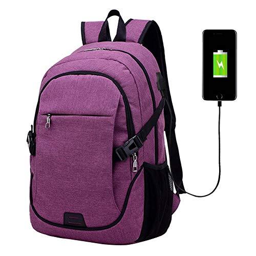 E Rugzak Fashion Canvas Ricarica Backpack Uomini VHVCX Colori Per Purple Donne Zaino Travel Business 4 Laptop Bag Lusso Con Usb qUaqg