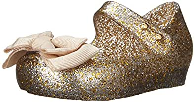 Mini Melissa Ultragirl Sweet SP BB Mary Jane Shoe (Toddler), Mixed Golden Glitter, 5 M US Toddler