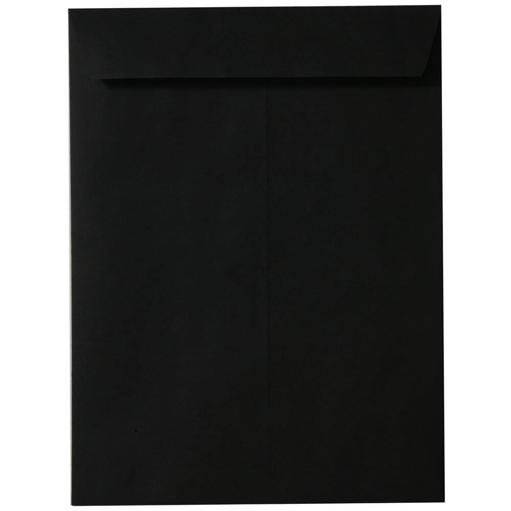 JAM PAPER 9 x 12 Open End Catalog Envelopes - Smooth Black - 100/Pack by JAM Paper