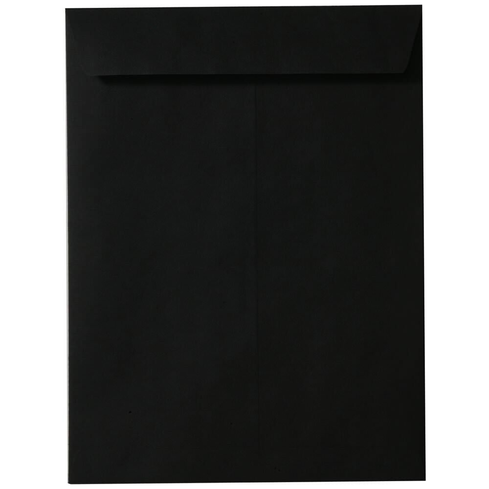 JAM Paper 9'' x 12'' Open End Catalog Envelopes - Black - 25/pack