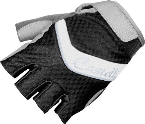 Castelli Elite Gel Glove - Women's Black/White/Silver Piping, (Sonic Womens Glove)