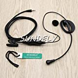 SUNDELY Clip-Ear Headset/Earpiece with Boom Mic VOX / PTT for Cobra Micro-Talk 2 Two Way Radio Walkie Talkie 1-pin