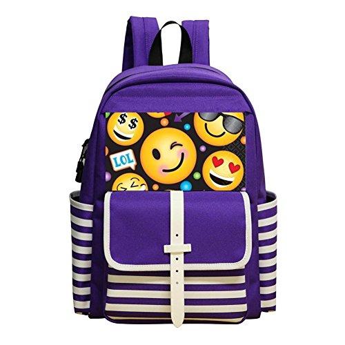 Emoji Lol Lunch Children School Bag Student Backpack Satchel Shoulder Bag