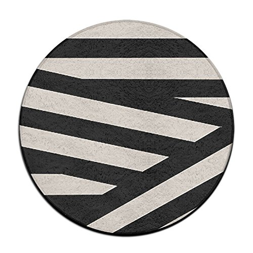 Waterproof Geometric Shape Round Splash Splat Mat For Under High Chair Floor Protector Cover 23.6