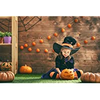 Allenjoy 7x5ft photography backdrop background indoor Happy Halloween decoration pumpkins wooden wall grass witch kids girl boys props photo studio booth
