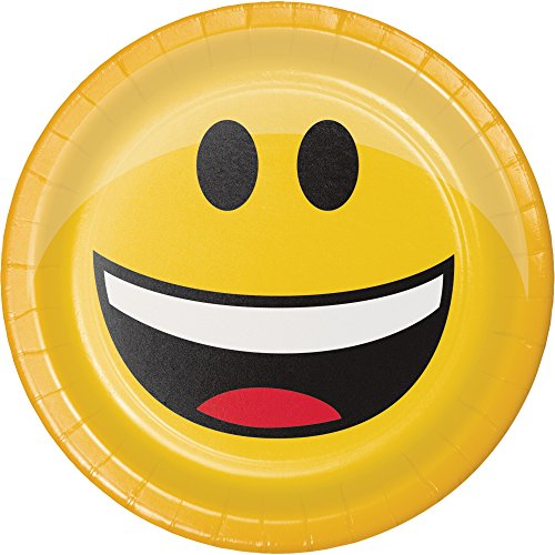 Creative Converting 322170 Paper Lunch Plates, Dessert, Show Your Emojions
