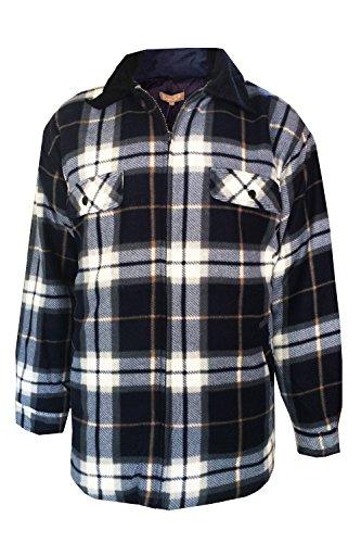 Bruno Galli FJ412 Mens Check Fleece Jacket - Blue - - Jackets Continental Blue