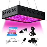 ARKNOAH 300W Full Spectrum LED Grow Light with UV IR for Hydroponic Indoor Greenhouse Grow Tent Garden Plants Growing in Veg and Flowering Stages (Black)