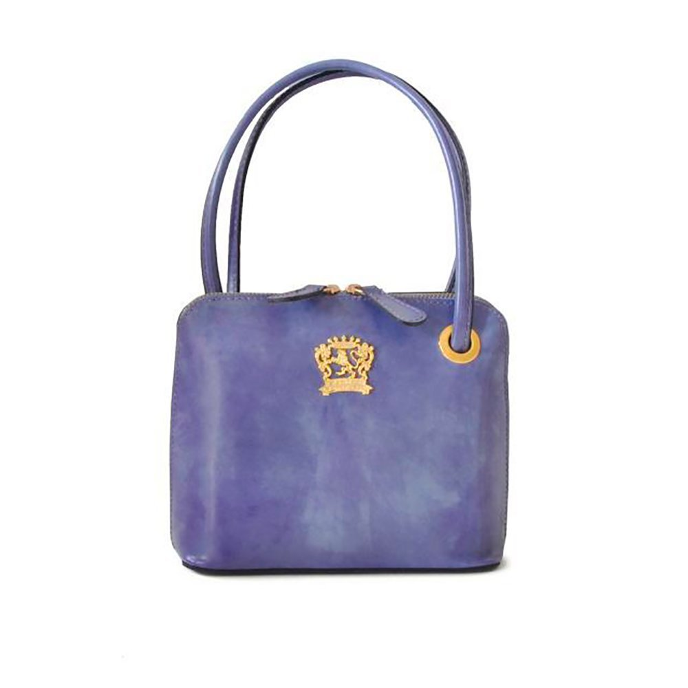 Pratesi Womens Italian Leather Roccastrada Woman Bag in Cow Leather in Violet