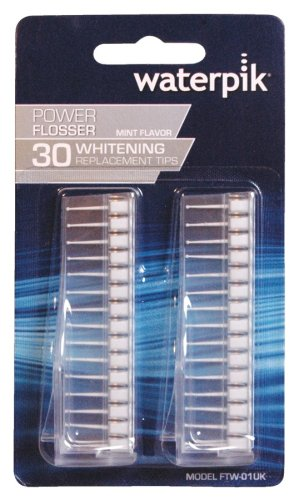 WaterPik FTW-01 Replacement Whitening 30-Count Flosser Tips for Watepik FLW 110, FLW 220, FLW 310