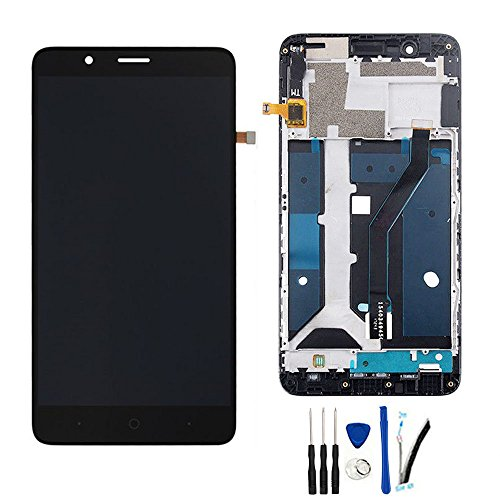 SOMEFUN Black with Frame LCD Display Screen digitizer Touch Glass Assembly for ZTE Blade Z Max Z982 / ZMax Pro 2 / Sequoia 6.0