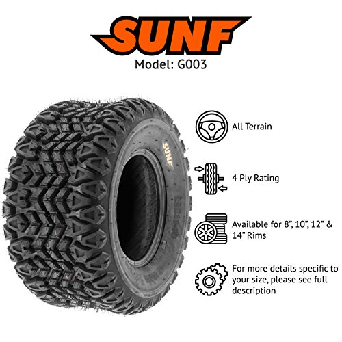 SunF ATV UTV A/T 23x11-10 All Trail 4 PR Tubeless Replacement Tire G003, [Single] by SunF (Image #2)