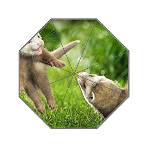 anfGreenqb Animals ferrets couple s grass jump playful-custom unbrella by anfGreenqb