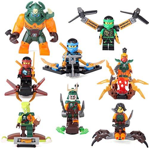 [Ninjago NINJA Lloyd Jay Nya Dogshank Nadakhan 8 Minifigures Building Toys LEGO] (Child Star Wars Costume Australia)