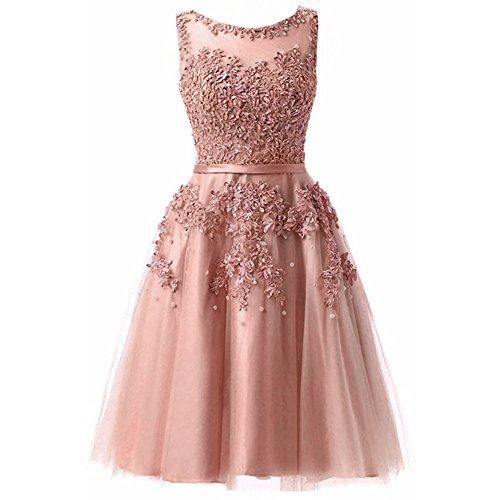 Toyis Donna Senza Pink Vestito Triangolo Maniche rTqwr67A