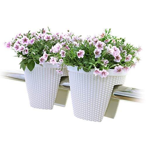 T4U Deck Balcony Railing Planter Flower Box 11.5
