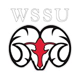CollegeFanGear Winston Salem Medium Decal 'WSSU Ram'