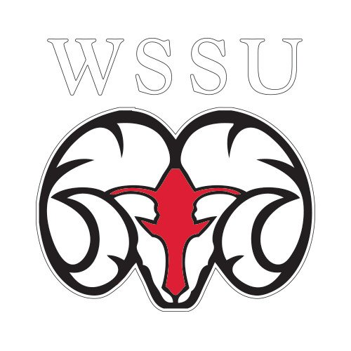 CollegeFanGear Winston Salem Medium Decal 'WSSU Ram' by CollegeFanGear
