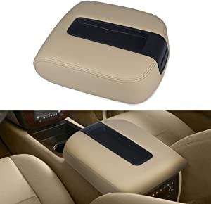VANJING Center Console Lid Armrest Kit Cover Compatible with 2007-2013 Chevy Avalanche Silverado Tahoe Suburban GMC Yukon Yukon XL Sierra-Replaces 15217111 15941534