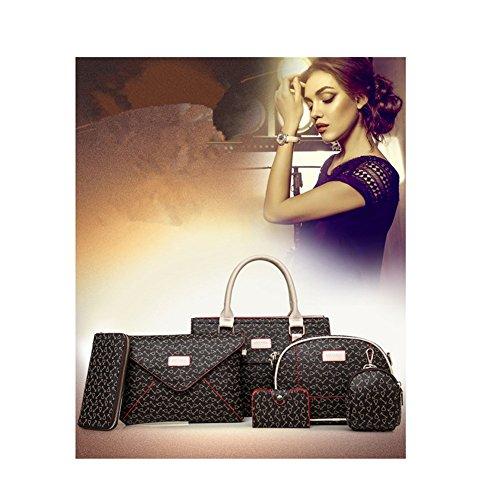 Casual Hobos Xagoo de las mujeres del bolso de hombro de la correa de mensajero y con Petit bolso 6 habitaciones (Estilo 4) Estilo 4