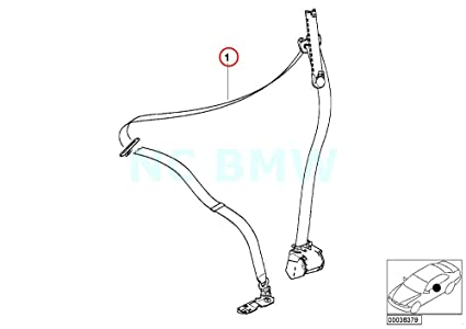 Amazon Com Bmw Genuine Rght Frnt Upper Belt With Force Limiter