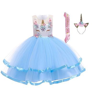 7d1c58237611c LZH Girl Unicorn Flower Dress Birthday Party Cosplay Costume Pageant  Princess Dresses