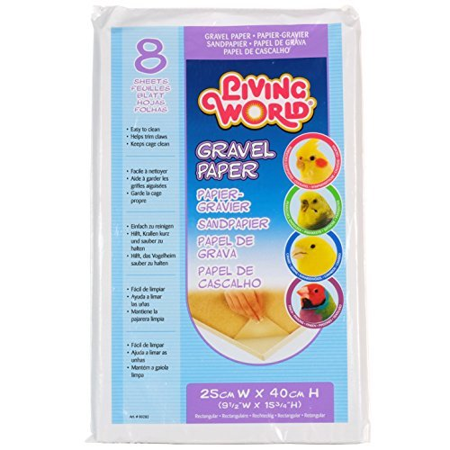 - Living World Gravel Paper 9-1/2 Inches x 15-3/4 Inches (8/Pack)