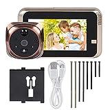 Video Peephole Doorbell, 720P 4.3inch HD Screen WiFi Smart Peephole Viewer Doorbell Waterproof Home Visible Intercom Doorphone Night Vision Two-way Itercorm