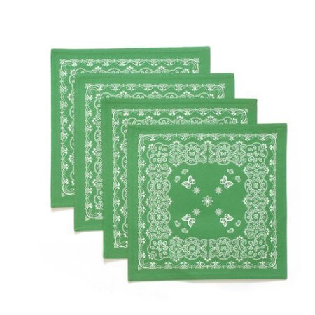 The Pioneer Woman Bandana Reversible Placemat, 4pk, (Green)