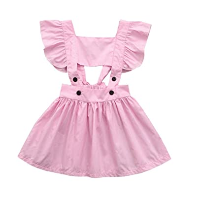 9194c4ef4ef6 Winsummer WinsummerToddler Baby Girls Cute Gallus Sleeveless Backless Princess  Dress Summer Dresses Cotton Beachwear