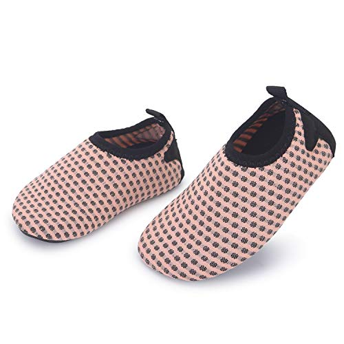 JIASUQI Summer Athletic Casual Water Shoes Socks for Baby Boys Girls Nude Pink 0-6 Months