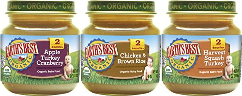 - Earth's Best Organic Stage 2 Baby Food, Dinner Favorites Variety Pack, 4 oz. Jar (12 Count)