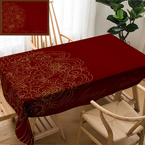 Skocici Unique Custom Design Cotton and Linen Blend Tablecloth Abstract Invitation CardTablecovers for Rectangle Tables, 70
