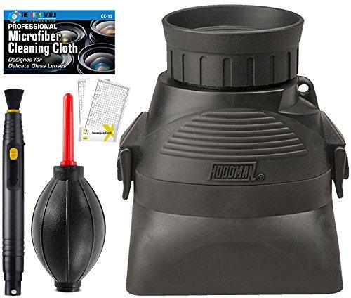 HoodLoupe Viewfinder Displays MicroFiber Cleaning