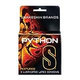 Paradise Marketing Snakeskin Python S Textured Latex Condoms, 3 Count
