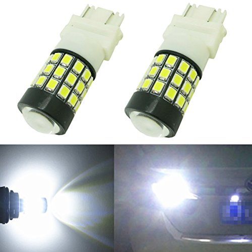 Alla Lighting 2pcs Super Bright 6000K Xenon White 3757A LED Bulbs Front Turn Signal Light Replacement for 2002~2009 Chevrolet Chevy Trailblazer/Trailblazer EXT