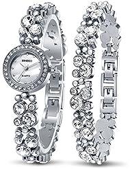 Time100 Womens Watches Bracelet Diamond Round Dial Watch Ladies Fashion Dress Watches Wrist watches for women...