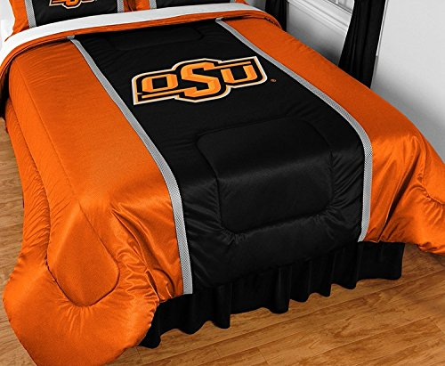 Oklahoma State University Jersey Stripe Comforter (Full/Queen)