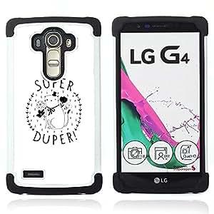 For LG G4 H815 H810 F500L - you are super kitten minimalist gift love Dual Layer caso de Shell HUELGA Impacto pata de cabra con im??genes gr??ficas Steam - Funny Shop -