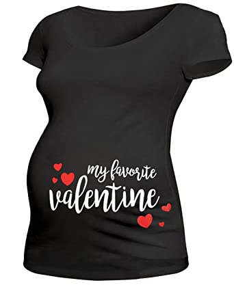 7d3c2cedfb06e Maternity Valentines Day Shirt Women My Favorite Valentine Tee Pregnancy  Announcement T Shirt with Funny Saying at Amazon Women's Clothing store: