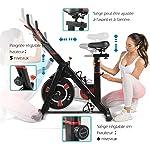 ISE-SY-7021-Cyclette-da-interni-per-fitness-resistenza-regolabile-schermo-LCD-silenzioso-per-casa-max-120-kg-colore-Nero