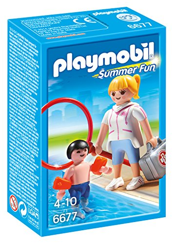 Playmobil - 6677 - Maitre nageur avec enfant