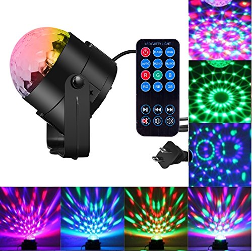Istar Party Lights Sound Activated Disco Ball Party Light 7 Lighting Color Disco Lights W  Remote Control For Bar Club Party Dj Karaoke Wedding Show Room Dance Parties Birthday Pub Outdoor
