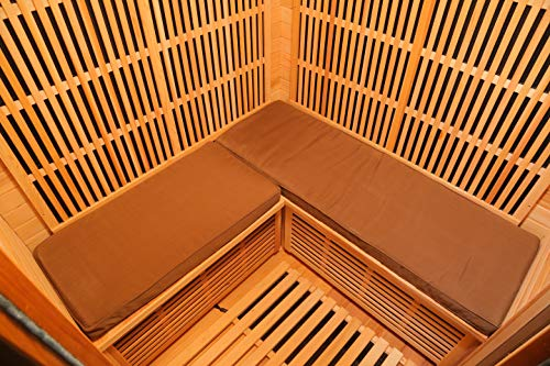 Radiant Saunas SA7002 3-Person Sauna Seat Cushion, One Size, Brown