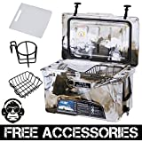 45QT CAMO DESERT GREEN COLD BASTARD Rugged Series ICE CHEST COOLER Free Accessories YETI Quality Free S&H