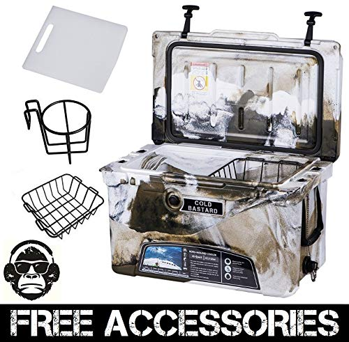 45QT CAMO DESERT GREEN COLD BASTARD Rugged Series ICE CHEST COOLER Free Accessories YETI Quality Free S&H (Baskets Cb Series)