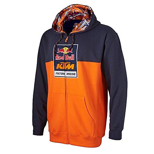 [Red Bull KTM Factory Racing Logo Sweatshirt Navy Blue Large] (Mens Navy Blue Bull)